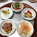 四川豆花飯荘 東京店   5種冷菜盛り合わせ   クラゲ、酢漬け、など特に特徴は無いですが目に楽しい〜