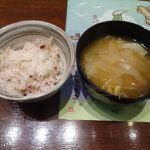 食彩健美 野の葡萄 ららぽーと横浜店   御飯と味噌汁   タマネギの味噌汁が凄く美味しかった!