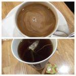 ドトールコーヒー みぞのくちノクティ店   コーヒーと紅茶   レモン果汁(右下)を付けてホットレモンティーだそうです