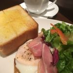 上島珈琲店 COREDO日本橋店 ベーコンエッグトーストモーニング