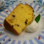レモンとレーズンのシフォンケーキにゃり。美味しかった\(//∇//)\    ローラアシュレイ ティールーム