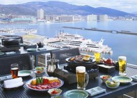 地上50m絶景レストラン期間限定オープン!比叡の山々・琵琶湖の眺望が楽しめる~琵琶湖ホテル屋上