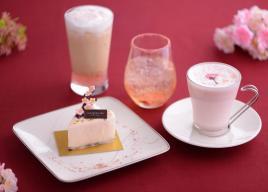 アニヴェルセルカフェ表参道にふんわり桜香るケーキ&ドリンクが登場!3/22から