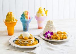 エッグスンシングス「Mango A Go Go!」新作パンケーキ2種とシェイブアイスが登場