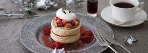 キハチカフェでクリスマス限定パンケーキ「クリスマスベリーパンケーキ」発売