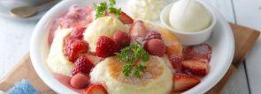 【ドレモルタオ】旬の苺を楽しむパンケーキ「ベリーベリーストロベリー」新登場