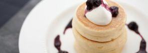 【キハチカフェ】期間限定リコッタパンケーキはフレッシュブルーベリージャムをサンド!6/17から