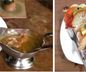 特製カリーとローストビーフサンドイッチ