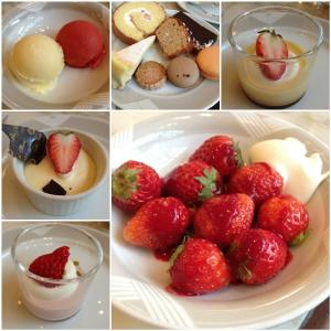 The LoungeSweets&Sandwiches Buffetホテルでいちご狩り**