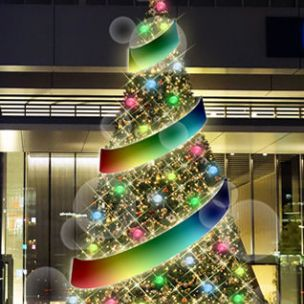 秋葉原 クリスマスイルミネーション 2015(UDX'MAS ILLUMINATION)