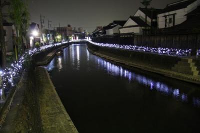 うずま冬ほたるキラフェス2015(巴波川(うずま川)イルミネーション)