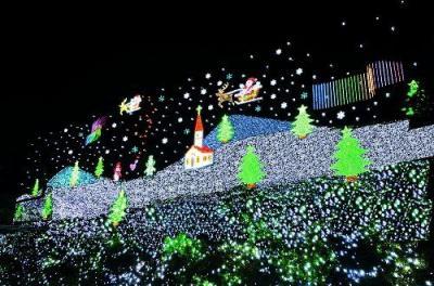 あしかがフラワーパーク イルミネーション 2016(フラワーファンタジー 光の花の庭)