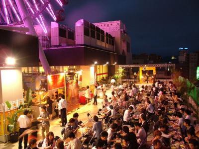 札幌ノルベサ 屋上ビアガーデン BEACH GARDEN ザ月光
