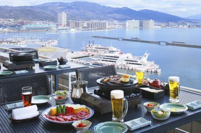 琵琶湖ホテル屋上 アウトドアバーベキュー 星
