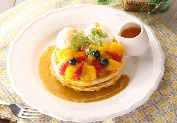 【夏限定】マンゴーとマスカルポーネのパンケーキ