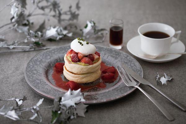 クリスマスベリーパンケーキ