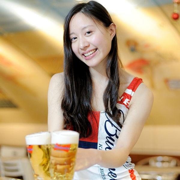 夏真っ盛り!バドワイザービールが1,000円で飲み放題