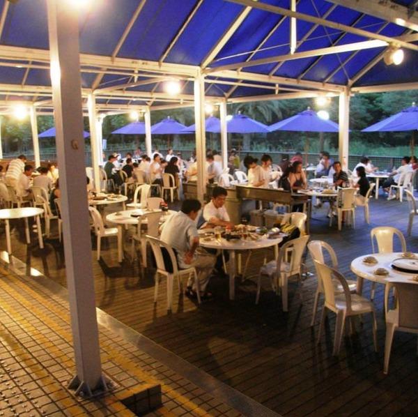 キリンビール横浜工場 レストラン ビアポート バーベキューガーデン