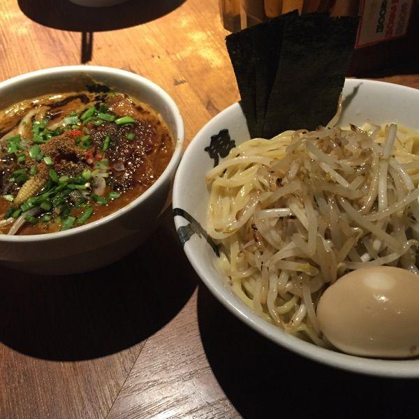 カラシビつけ麺 鬼金棒 麺とつけダレ