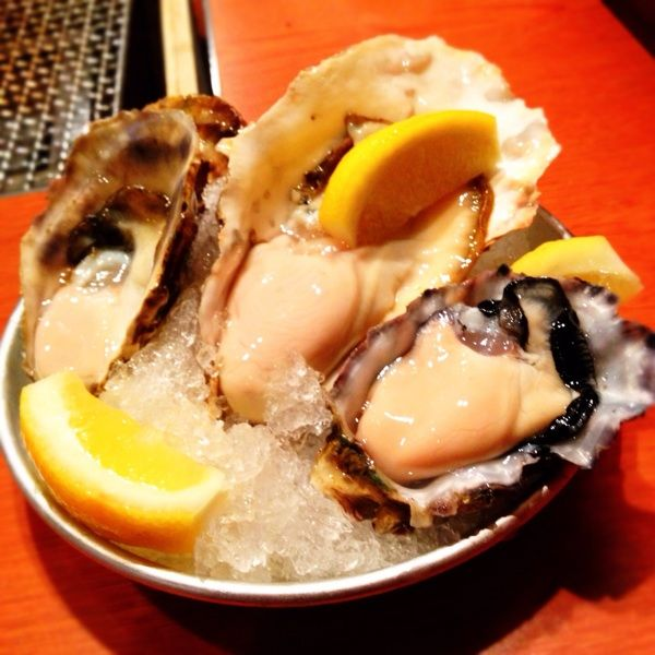 かき小屋 ジャックポット  恵比寿 生牡蠣三種盛り