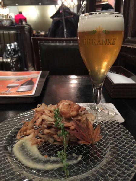 昨日は、前菜スペシャリテの秋刀魚ときのこのタルタルに合わせて、イクスイクス・ビター@デリリウムカフェ レゼルブ