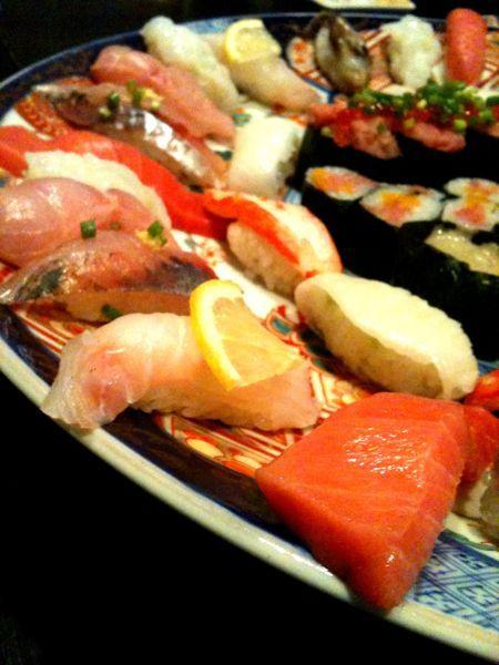 彩り亭でお寿司の時間だ( ' ▽ ' )/ヨ