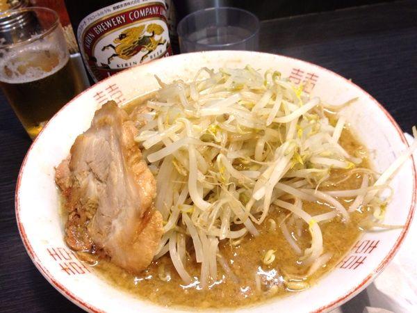 ラーメン小 野菜2倍550円…いただきま~す!(^O^)/@ダントツラーメン 岡山一番店