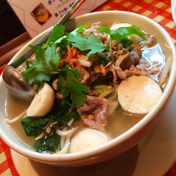 Koh Phi phi 溝の口店辛くないもの食べたくなったので、セン・レック/ヤイ ナーム細麺。平和な味でホッとしたわ( ̄▽ ̄)