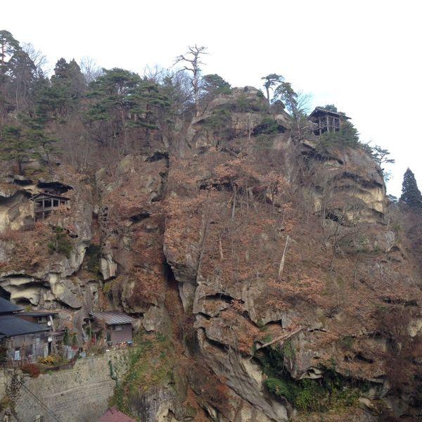 立石寺 に登ってきた。奇岩