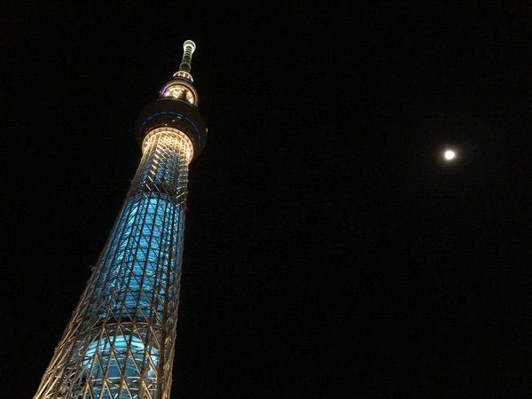 東京スカイツリー✨満月とのコラボ✨