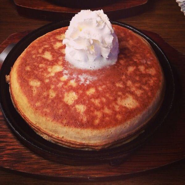 プレーンパンケーキ&ホイップクリーム