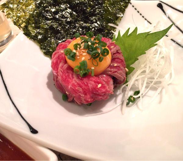 エイジング•ビーフ 西日暮里本店 ユッケゴールドステーキ仕立て