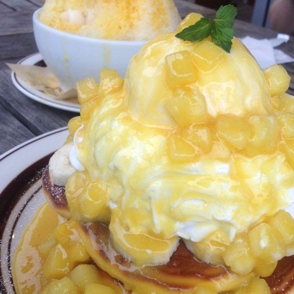 Tuesday coffee8月のパンケーキはパイン(ФωФ)♡