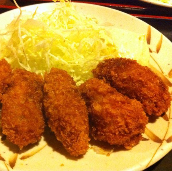 カキフライ定食 ¥550 包丁や 品川東口店