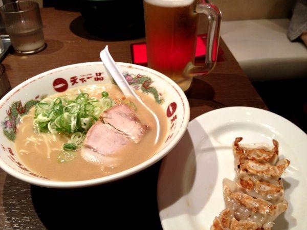 天下一品 渋谷店 久しぶりの天一。こってり餃子セットライスなし。