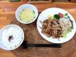 豚肉とゴボウのキンピラ風炒め物/cafeロジウラのマタハリ春光乍洩
