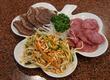台湾では薬草として珍重されている「白鳳菜」!艶かしくも清らかな香りの「葱入り玉子焼き」♪ 御徒町・台湾客家料理 新竹