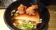 「本日の定食」は「鶏天きつね+温卵ごはん」でした♪@「本町製麺所」本店