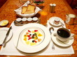 フルーツヨーグルトモーニング♡ペニンシュラの朝食