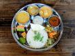 小松菜と大根のサンバルとか/モモヨカリー(浄心)