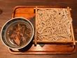 鴨肉ゴロゴロ、河内の鴨汁つけそば♪@江戸堀 武蔵野