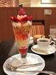 苺パフェ♡銀座和蘭豆