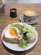 アボカドトーストとレモンタルト♡cafe634