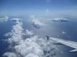 羽田空港へ飛行中に伊豆諸島が見えました!