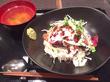「サロン デュ クール」銀座8丁目 本日(7月31日)まで半額の500円!「牛ハラミステーキ丼」