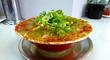 鉢一面の赤唐辛子が名物の「ラーメン」@ラーメン「タンポポ」