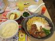 (東久留米市) - ガスト 東久留米店 「松山 鍋焼き肉うどん+おつまみカキフライセット、追加トッピング(ほうれん草)、ごはん、ドリンクバー」