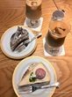 苺のミルクレープ♡丸福珈琲