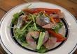 クレソンの里から届いた、ワイルドなクレソン使用の「クレソンナムル」 センスを感じさせる「鰺とパクチーのサラダ」にも、驚きました♪ 東中野・東灯(とうとう)