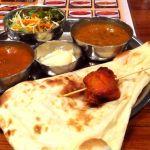 インド料理 15の象にてCセット。カレーはダールとマトン。ナンはお代わり自由です。